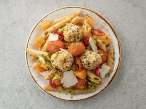 low fat meatballs and pasta