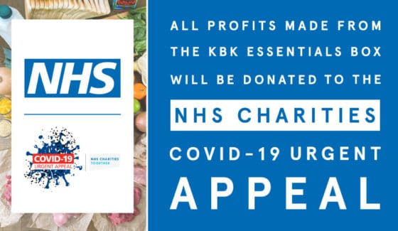 KBK donates all KBK Essentials Box profits to the NHS